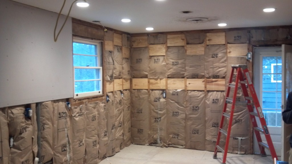 insulation going in.